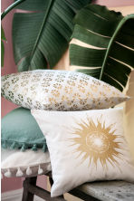 Patterned cushion cover - White/Gold - Home All | H&M CN 1