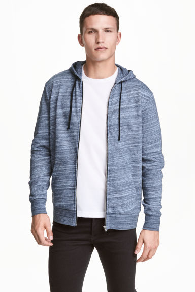 Hooded jacket - Blue marl -  | H&M 1