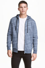 Hooded jacket - Blue marl -  | H&M CN 1