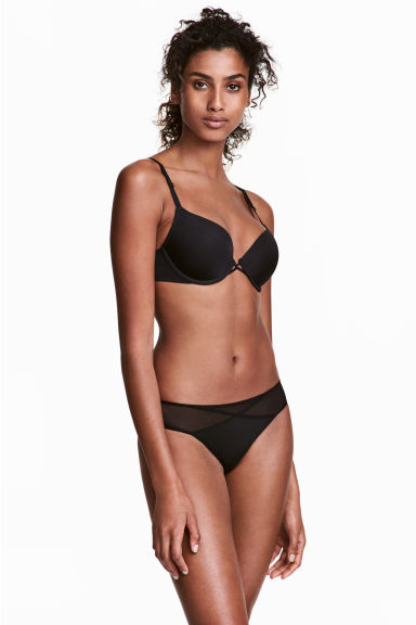 Microfibre Brazilian briefs - Black - Ladies | H&M 1