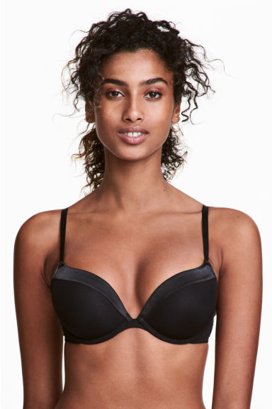 Reggiseno push-up microfibra - Nero - DONNA | H&M IT 1