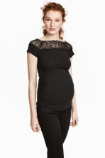 MAMA Top con pizzo - Nero - DONNA | H&M IT 1