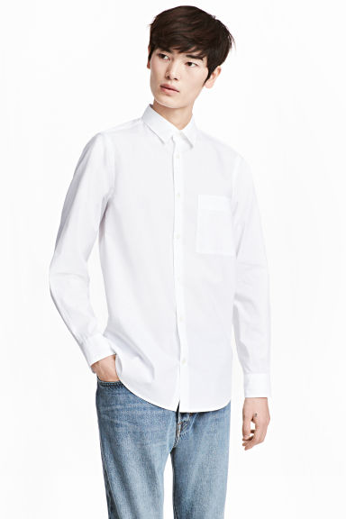 Pima cotton shirt - White - Men | H&M 1