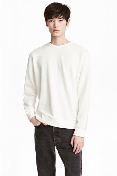 Sweatshirt - White - Men | H&M CN 1