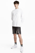 Denim shorts - Black washed out - Men | H&M 1