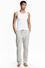Patterned pyjama bottoms - Light grey/Checked - Men | H&M CN 1