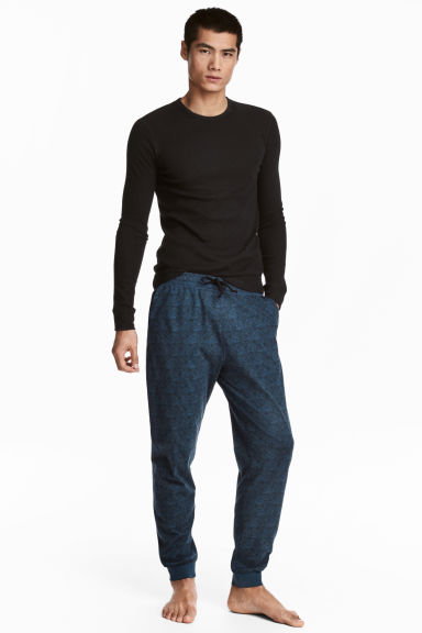 Patterned pyjama bottoms - Dark blue/Tigers - Men | H&M 1