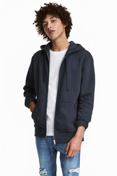 Hooded jacket - Dark blue - Men | H&M 1