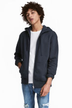 Hooded jacket - Dark blue - Men | H&M CN 1