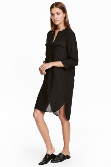 Short dress - Black -  | H&M 1