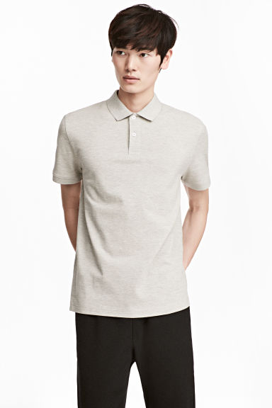Polo shirt - Light grey-beige - Men | H&M 1