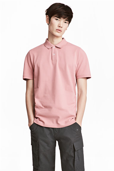 Polo in piqué - Rosa pallido - UOMO | H&M IT