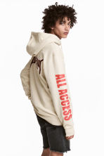 Printed hooded top - Light beige/Justin Bieber - Men | H&M 1