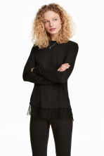 Long-sleeved top - Black - Ladies | H&M 1