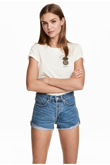 Short High Waist Shorts - Denimblå - DAM | H&M FI 1