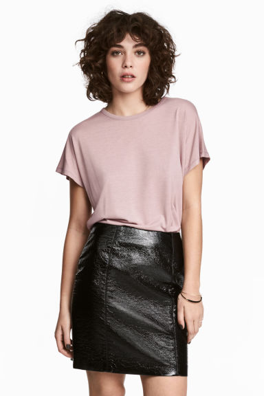 Top with cap sleeves - Light heather pink - Ladies | H&M 1