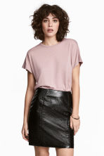 Top with cap sleeves - Light heather pink - Ladies | H&M GB 1