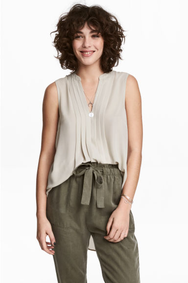 Sleeveless blouse - Light mole - Ladies | H&M 1