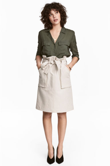 Cargo skirt - Light beige - Ladies | H&M 1