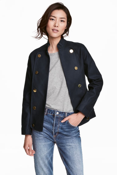 Cotton jacket - Dark blue -  | H&M CA 1