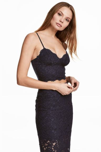 Bustier top - Dark blue - Ladies | H&M 1
