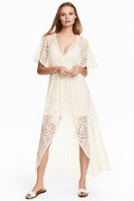 Lace dress - Natural white - Ladies | H&M CN 1
