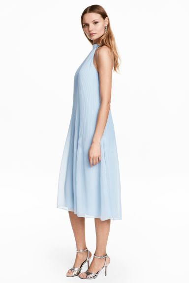 Pleated dress - Light blue - Ladies | H&M 1
