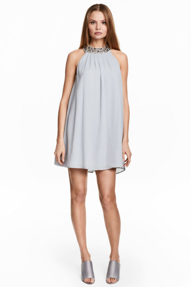 Chiffon dress - Light blue - Ladies | H&M 1