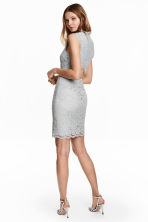Lace dress with cap sleeves - Light grey -  | H&M 1