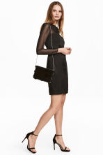 Satin dress - Black - Ladies | H&M CA 1
