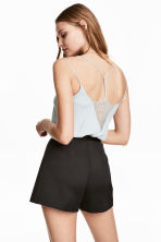 Strappy top with lace - Light blue - Ladies | H&M 1