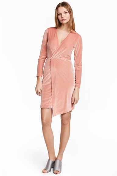 Abito in velour - Rosa cipria - DONNA | H&M IT 1