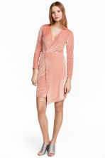 Velour dress - Powder pink - Ladies | H&M CN 1