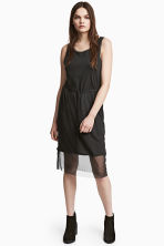 Dress with mesh trims - Black -  | H&M 1