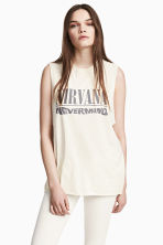 Printed vest top - Natural white/Nirvana -  | H&M 1