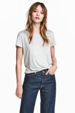 Jersey top - Light grey - Ladies | H&M 1