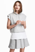 Sleeveless hooded top - Grey marl - Ladies | H&M 2
