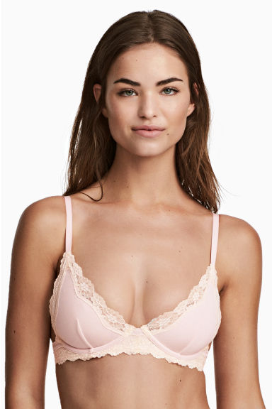 Underwired modal jersey bra - Light pink - Ladies | H&M 1