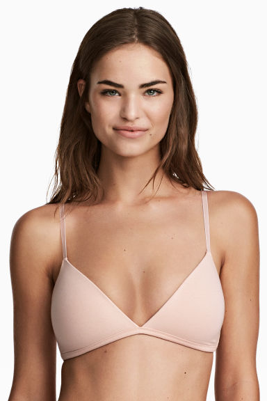 2-pack non-wired T-shirt bras - Black/Chai - Ladies | H&M 1