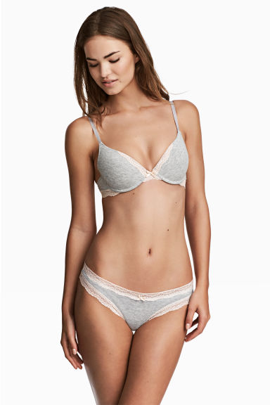 3-pack Brazilian briefs - Grey marl - Ladies | H&M CN 1