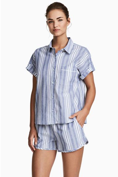 Pyjamas - Blue/Striped - Ladies | H&M CN 1