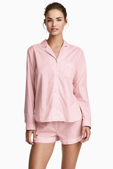Cotton pyjamas - Pink/Patterned - Ladies | H&M CN 1