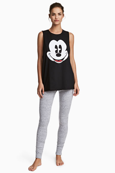 Pigiama con canotta e leggings - Nero/Topolino - DONNA | H&M IT