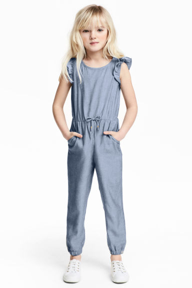 Chambray jumpsuit - Blauw/chambray -  | H&M BE
