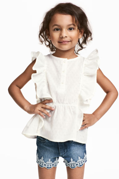 Cotton blouse - White - Kids | H&M CA 1
