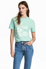 Wide T-shirt - Mint green -  | H&M 1