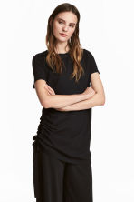 T-shirt with a drawstring - Black - Ladies | H&M CN 1