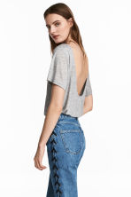 Top with a low back - Grey marl - Ladies | H&M CN 2
