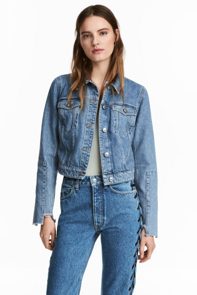 Veste courte en jean - Bleu denim -  | H&M BE 1