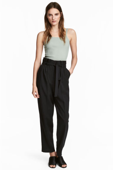 Wide trousers - Black -  | H&M CA 1